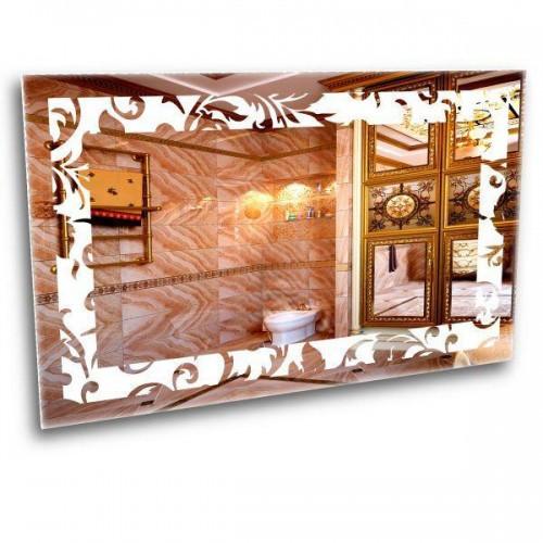 Зеркало с лед подсветкой. Зеркало с цветами 600*800
