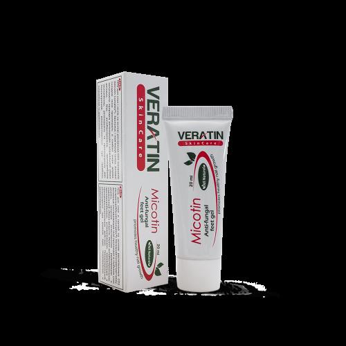 Противогрибковый Гель Микотин с СО2 экстрактами, Micotin gel, 20 мл, туба, чайное дерево, тимол, касторное масло, Карбомер