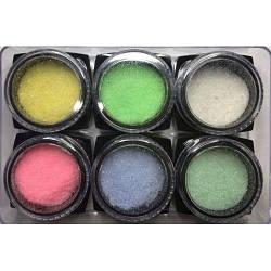 Декор для нігтів цукрові нігті, для дизайну нігтів, присипка, кольоровий цукор, пісок, меланж