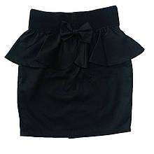 Школьная юбка с баской для девочки, 128см