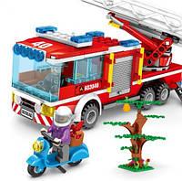 Детский конструктор для мальчиков Пожарная машина SD603040