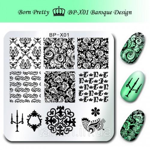 Пластина для стемпинга Born Pretty Floral Design BP-X01