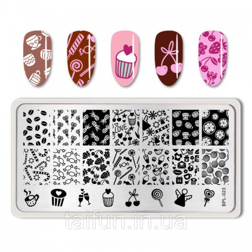 Пластина для стемпинга Born Pretty Candy Nail BP-L023