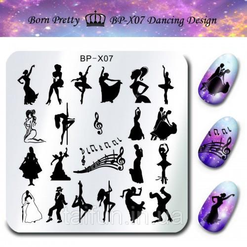 Пластина для стемпинга Born Pretty Girl Image BP-X07