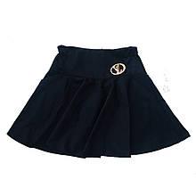 Школьная юбка солнце клеш с кармашками для девочки, 128см