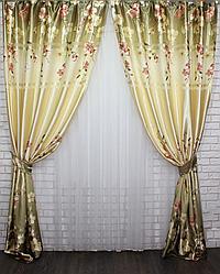 Красивый комплект штор для гостинной фотошторы