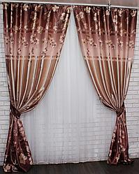 Готовый комплект штор для гостинной фотошторы