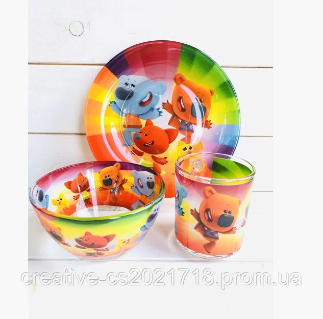 """Набор детской посуды """"Ми-ми-мишки"""", 3 предмета"""