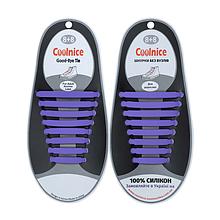 Силиконовые шнурки Coolnice B07 фиолетовые