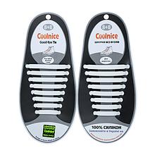 Силиконовые шнурки Coolnice B10 белые