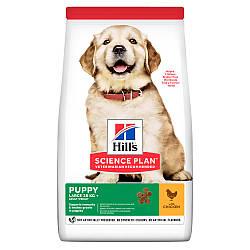 Сухой корм Hills для щенков крупных пород с курицей Science Plan Healthy Development Puppy Large Breed 0,8 кг