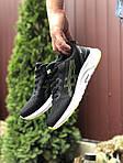 Чоловічі кросівки Asics (чорно-білі з салатовим) 9616, фото 2