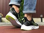 Чоловічі кросівки Asics (чорно-білі з салатовим) 9616, фото 3