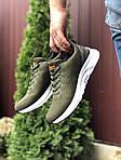 Мужские кроссовки Asics (темно-зеленые) 9617, фото 4