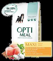 Сухой полнорационный корм Optimeal для собак больших пород со вкусом курицы 12 кг