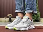 Чоловічі кросівки Asics (світло-сірі з білим) 9619, фото 4