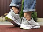 Чоловічі кросівки Asics (світло-сірі з білим) 9619, фото 3