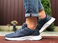 Мужские кроссовки Asics (сине-серые с белым) 9620