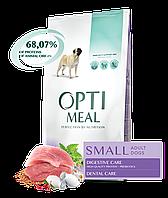 Сухой полнорационный корм Optimeal для собак малых пород со вкусом утки 12 кг
