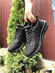 Мужские кроссовки Asics (черные) 9622, фото 2
