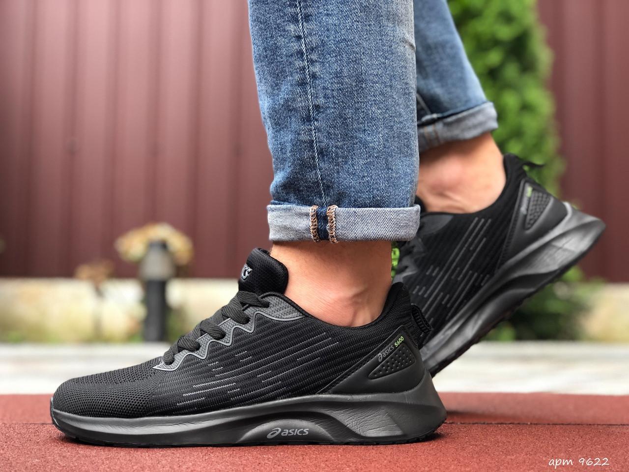 Мужские кроссовки Asics (черные) 9622