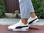 Женские кроссовки Puma Cali Bold (бело-черные) 9624, фото 3