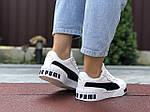 Женские кроссовки Puma Cali Bold (бело-черные) 9624, фото 4