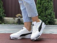 Женские кроссовки Puma Cali Bold (бело-черные) 9624