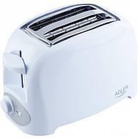 Adler AD-3201 тостер белый 750W
