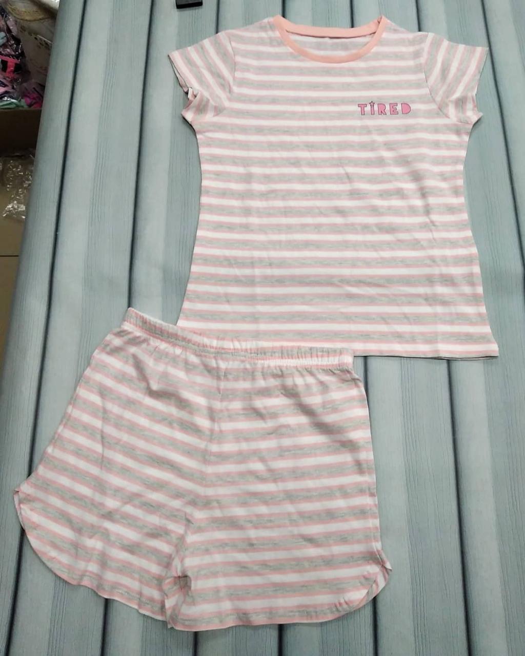 Пижама летняя детская в мягких тонах
