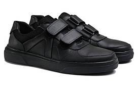 Чоловічі кросівки з натуральної шкіри GX 55 Black р. 46 47 48 49 50