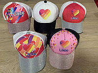 """Кепка подростковая для девочки """"Likee"""" размер 52-55 см, цвета указывайте при заказе, фото 1"""