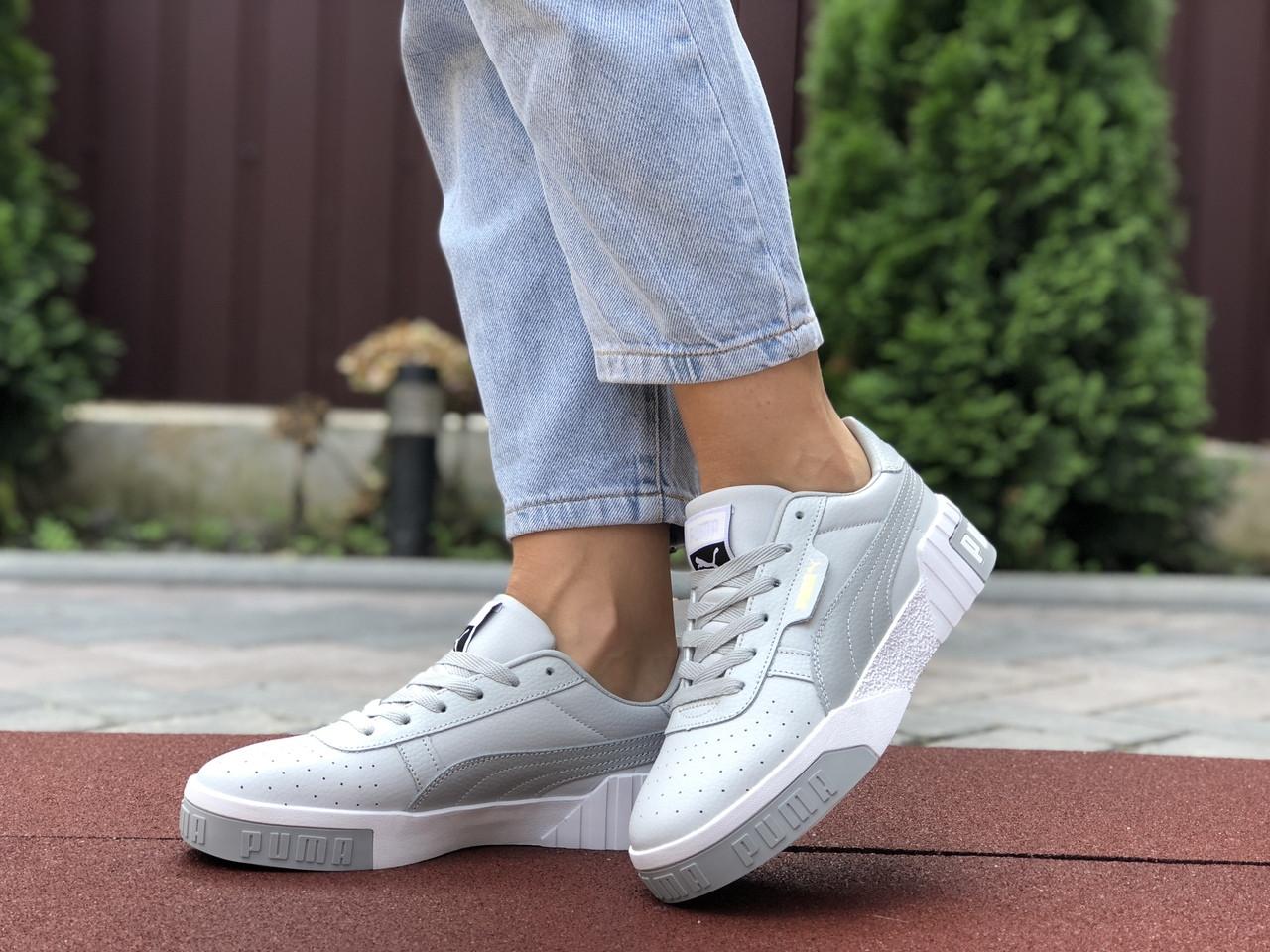 Жіночі кросівки Puma Cali Bold (сіро-білі) 9627