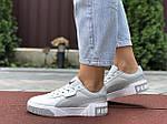 Женские кроссовки Puma Cali Bold (серо-белые) 9627, фото 4