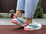Женские кроссовки Puma Cali Bold (бело-мятные) 9629, фото 4