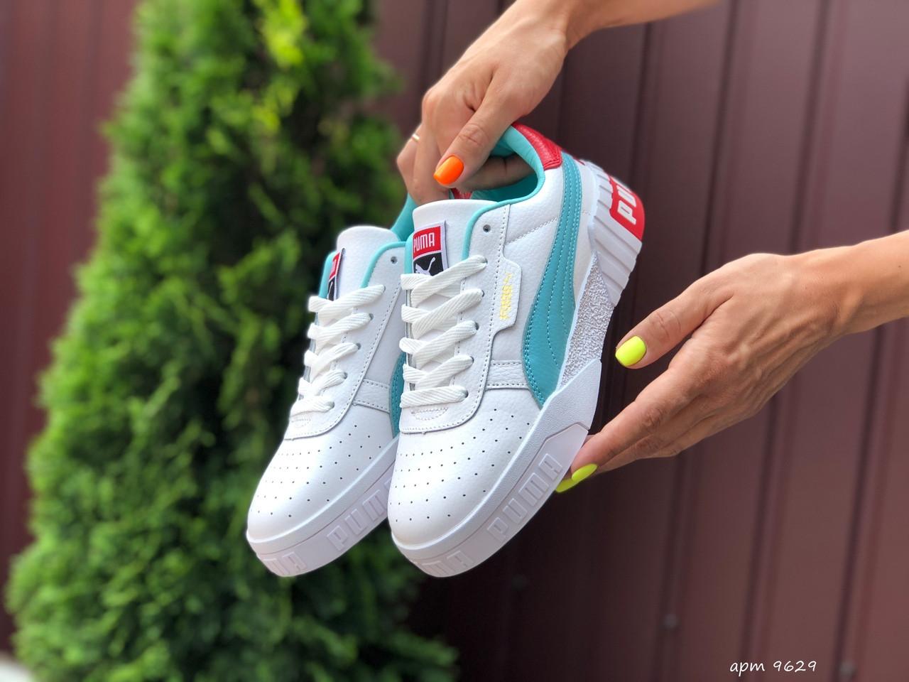Женские кроссовки Puma Cali Bold (бело-мятные) 9629