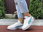 Женские кроссовки Puma Cali Bold (бело-мятные) 9629, фото 3