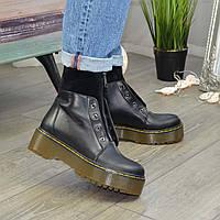 Ботинки демисезонные женские черные на молнии. 36 размер