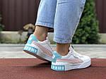 Женские кроссовки Puma Cali Bold (бело-пудровые с мятным) 9632, фото 3