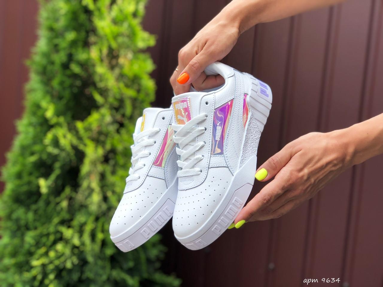 Жіночі кросівки Puma Cali Bold (білі хамелеони) 9634