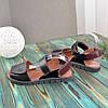 Босоніжки чорні шкіряні на липучках, фото 2