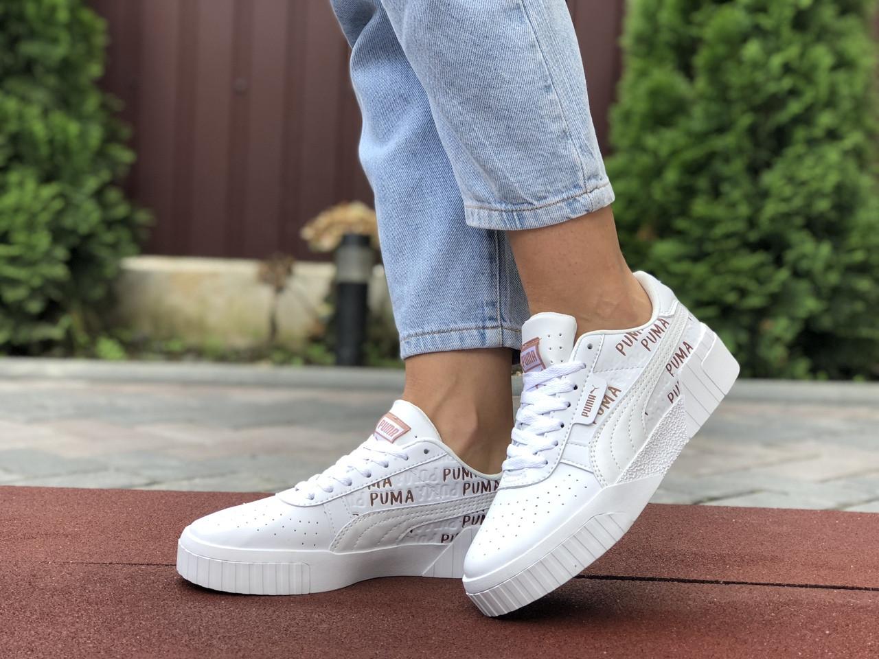 Женские кроссовки Puma Cali (белые) 9636