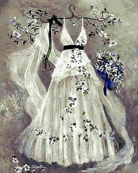 Картина по номерам 40×50 см. Mariposa Платье невесты (Q 417)