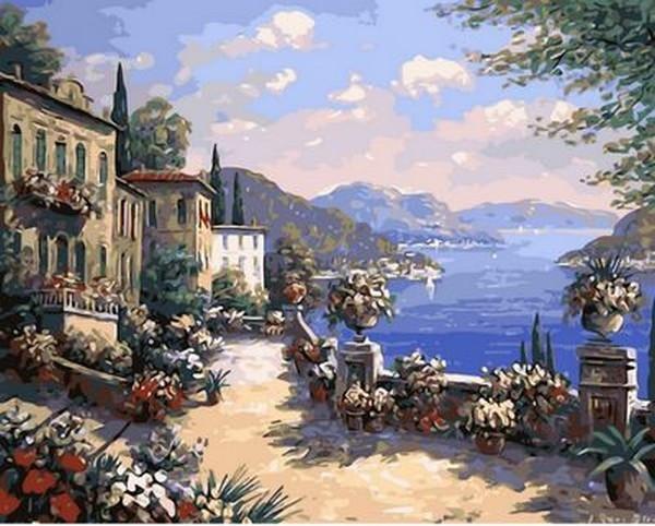 Картина по номерам 40×50 см. Mariposa Итальянская набережная Художник Биглер Рене (Q 613)