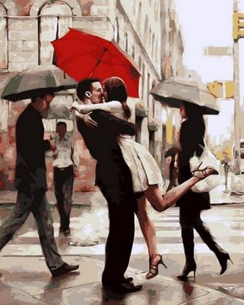 Картина по номерам 40×50 см. Mariposa Поцелуй при встрече Художник Даниэль Дель Орфано (Q 682)