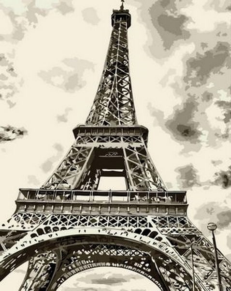 Картина по номерам 40×50 см. Mariposa Эйфелева башня (Q 736)