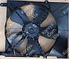 Вентилятор радиатора в сборе с диффузором Aвeo с кондиционером. GM 96536666