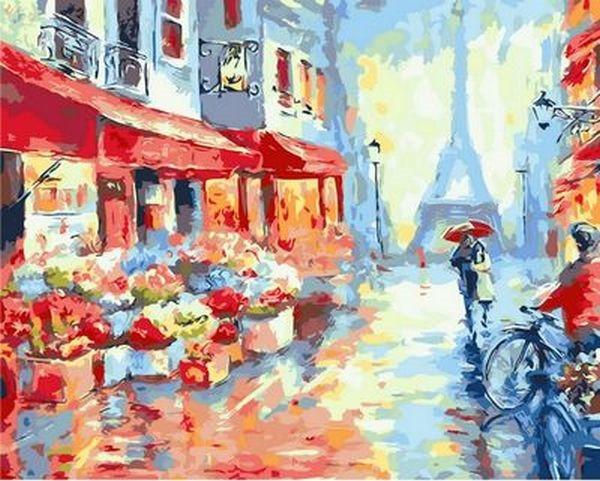Картина по номерам 40×50 см. Mariposa Свидание в Париже Художник Ричард Макнейл (Q 1228)