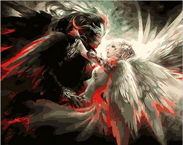 Картина по номерам 40×50 см. Mariposa Ангел и Демон (Q 223)