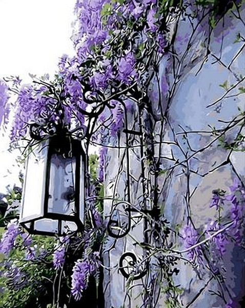 Картина по номерам 40×50 см. Mariposa Сиреневый фонарь (Q 442)